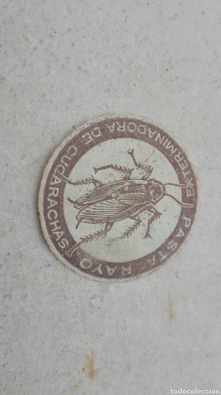 Etiquetas antiguas: Antigua Etiqueta Pasta Rayo Exterminadora de Cucarachas - Foto 2 - 80371830
