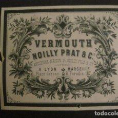 Etiquetas antiguas: ETIQUETA VERMOUTH - NOILLY PRAT - VER FOTOS - (V-9953). Lote 80519913