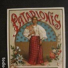 Etiquetas antiguas: ETIQUETA PATADIONES - VER FOTOS - (V-9967). Lote 80522369