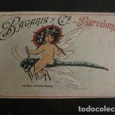 Etiquetas antiguas: ETIQUETA - BAGARIA Y CIA - VER FOTOS - (V-9977). Lote 80523961