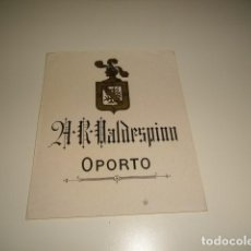 Etiquetas antiguas: A.R. VALDESPINO OPORTO ETIQUETA DE VINO CAJA-28. Lote 81238088
