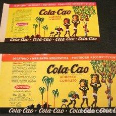 Etiquetas antiguas: COLA CAO ETIQUETA DE BOTE COLACAO. ORIGINAL DE LOS 60. NUNCA PEGADA. BUEN ESTADO. Lote 253976175