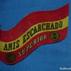 Etiquetas antiguas: ANTIGUA ETIQUETA ANIS ESCARCHADO SUPERIOR.. Lote 90561795
