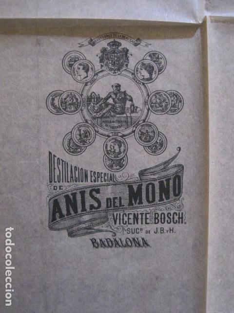 Etiquetas antiguas: ANIS DEL MONO- VICENTE BOSCH -ENVOLTORIO DE PAPEL PARA BOTELLA -AÑO 1903 -VER FOTOS-(V-11.781) - Foto 2 - 91137930