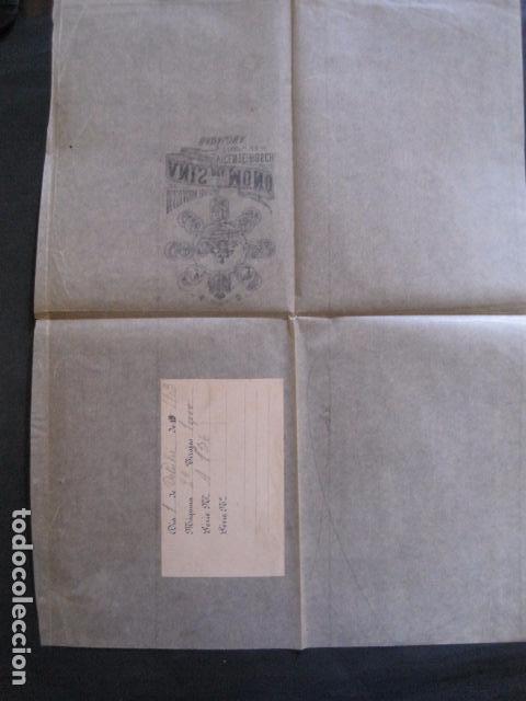 Etiquetas antiguas: ANIS DEL MONO- VICENTE BOSCH -ENVOLTORIO DE PAPEL PARA BOTELLA -AÑO 1903 -VER FOTOS-(V-11.781) - Foto 4 - 91137930