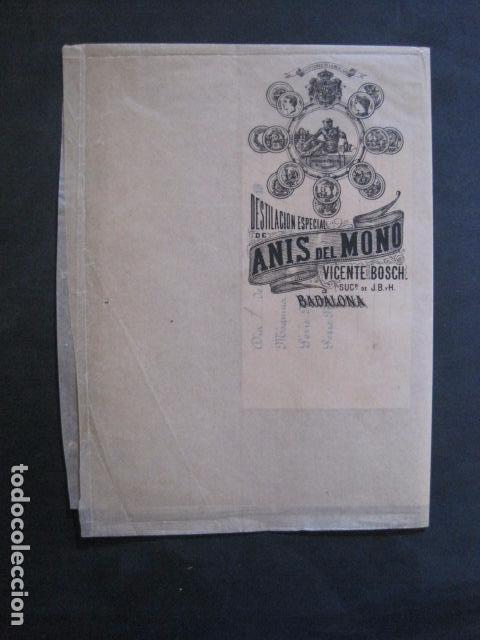 Etiquetas antiguas: ANIS DEL MONO- VICENTE BOSCH -ENVOLTORIO DE PAPEL PARA BOTELLA -AÑO 1903 -VER FOTOS-(V-11.781) - Foto 5 - 91137930