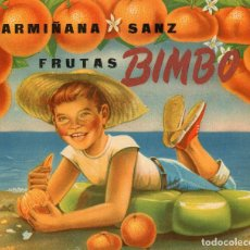 Etiquetas antiguas: ETIQUETA DE NARANJAS BIMBO 250X210 MM.. Lote 92056795