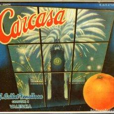 Etiquetas antiguas: ETIQUETA DE NARANJAS CARCASA 278X241 MM.. Lote 92057395