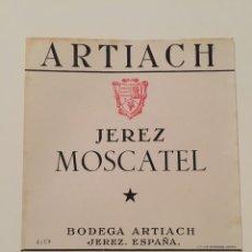 Etiquetas antigas: ETIQUETA DE VINO ARTIACH - JEREZ MOSCATEL - BODEGAS ARTIACH - JEREZ. Lote 94486918