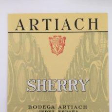 Etiquetas antigas: ETIQUETA DE VINO ARTIACH - SHERRY - BODEGAS ARTIACH - JEREZ. Lote 94487152