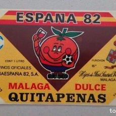Etiquetas antiguas: MALAGA 1982. ETIQUETA ADHESIVA DE VINO CON NARANJITO. Lote 94622899