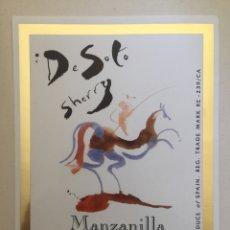 Etiquetas antiguas: ETIQUETA DE VINO DE SOTO SHERRY - MANZANILLA - BODEGAS JOSÉ DE SOTO - JEREZ XÉRÈS SHERRY. Lote 94727816