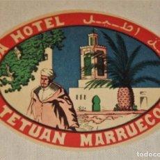 Etiquetas antiguas: ETIQUETA DERSA HOTEL TETUAN MARRUECOS. Lote 94813535