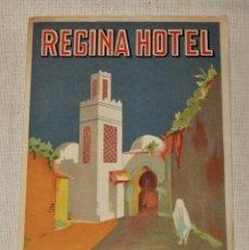 Etiquetas antiguas: ETIQUETA REGINA HOTEL TETUAN MARRUECOS 14 X 9,8 CMS. Lote 94817199