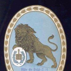 Etiquetas antiguas: ETIQUETA DE TEJIDOS: HIJO DE SOLA-SERT, LEON (12,5 X 17 CMS). Lote 96030379