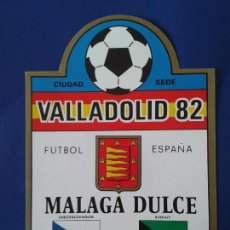Etiquetas antiguas: ETIQUETA DE VINO MALAGA DULCE ESPAÑA 82 MUNDIAL 1982 BODEGAS ROSAMOR CIUDAD SEDE - VALLADOLID. Lote 270690688