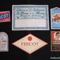 Etiquetas antiguas: PUBLICIDAD ETIQUETAS ORIGINALES. Lote 97193719