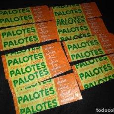 Etiquetas antiguas: PALOTES - LOTE DE 9 ENVOLTORIOS DE NARANJA - AÑOS 70. Lote 97276087