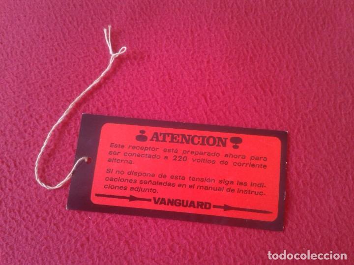 Etiquetas antiguas: ANTIGUA ETIQUETA LABEL MARCA VANGUARD, RADIO TELEVISIÓN EQUIPOS ELECTRÓNICOS... ETC VER IMÁGENES Y D - Foto 2 - 97505047