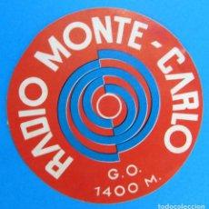 Etiquetas antiguas: ETIQUETA DE LA EMISORA RADIO MONTE CARLO MONTECARLO.. Lote 174283424