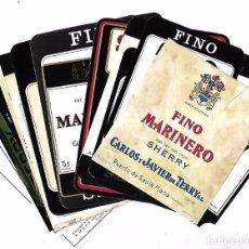 Etiquetas antiguas: LOTE DE 21 ETIQUETAS DE VINOS. BODEGAS TERRY. PUERTO SANTA MARIA. VARIADAS. VER. Lote 97902987