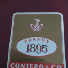 Etiquetas antiguas: ETIQUETA BRANDY 1895. Lote 98154563