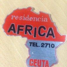 Etiquetas antiguas: ANTIGUA ETIQUETA HOTEL RESIDENCIA AFRICA CEUTA. Lote 99743639