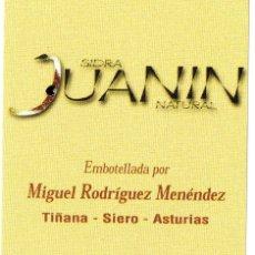 Etiquetas antiguas: ETIQUETA BOTELLA DE SIDRA NATURAL ASTURIAS. Lote 101178619