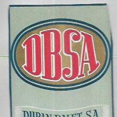 Étiquettes anciennes: ETIQUETA * DBSA * DURAN BALET -BCN. Lote 101420591