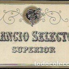 Etiquetas antiguas: ETIQUETA * RANCIO SELECTO SUPERIOR *. Lote 101420599
