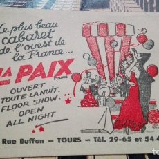 Etiquetas antiguas: LA PAIX TOURS. Lote 101639027