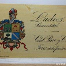 Etiquetas antiguas: ETIQUETA DE UNA BODEGA DE JEREZ FRA.... ANTIGUA.. Lote 101959179