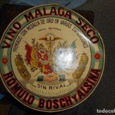 Etiquetas antiguas: GRAN ETIQUETA VINO MALAGA SECO VILLAFRANCA. Lote 102521283