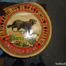 Etiquetas antiguas: ETIQUETA DE VINO MARCA CAN VINOS LEGITIMOS DE LAS COSTAS DE LEVANTE. Lote 102521511