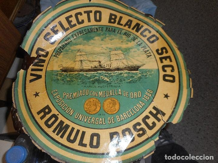 ANTIGUA ETIQUETA VINO SELECTO BLANCO SECO (Coleccionismo - Etiquetas)