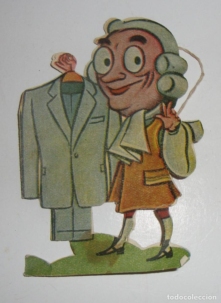 ANTIGUA ETIQUETA PARA ROPA TROQUELADA CORTEFIEL AÑOS 40 (Coleccionismo - Etiquetas)