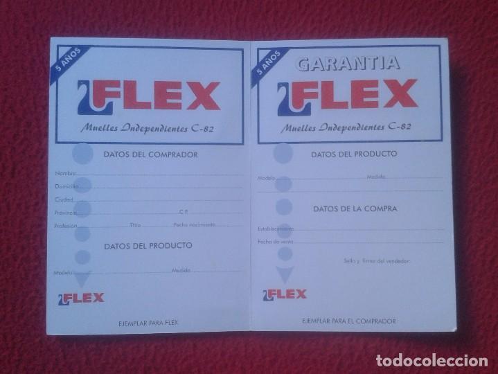 JUEGO DE ETIQUETAS DE GARANTÍA COLCHONES FLEX AÑOS 80 90 APROX. ?? VER FOTO/S Y DESCRIPCIÓN. LABELS (Coleccionismo - Etiquetas)