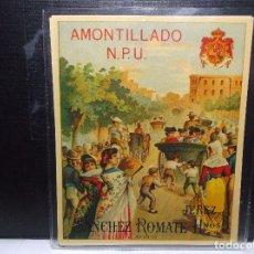Etiquetas antiguas: ETIQUETA DE UNA BODEGA DE JEREZ FRA.. ANTIGUA.. Lote 104192251