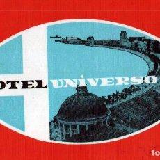 Etiquetas antiguas: HOTEL UNIVERSO - LISBOA - PORTUGAL - ETIQUETA ANTIGUA DE HOTEL. Lote 104691395
