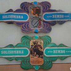 Etiquetas antiguas: VITOLAS SOLISOMBRA. Lote 104984726
