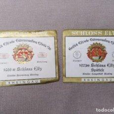 Etiquetas antiguas: ANTIGUAS ETIQUETAS DE VINO SCHLOSS ELTZ. Lote 105080779