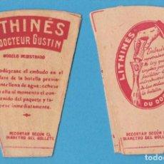 Etiquetas antiguas: EMBUDO DE PAPEL. LITHINÉS DU DOCTEUR GUSTIN.. Lote 105240791