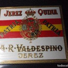 Etiquetas antiguas: ETIQUETA DE UNA BODEGA DE JEREZ FRA. - ANTIGUA.. Lote 107182879