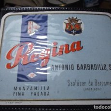 Etiquetas antiguas: ETIQUETA DE UNA BODEGA DE SANLUCAR BDA. . Lote 107542271
