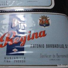 Etiquetas antiguas: ETIQUETA DE UNA BODEGA DE SANLUCAR BDA. . Lote 107542371