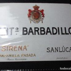 Etiquetas antiguas: ETIQUETA DE UNA BODEGA DE SANLUCAR BDA. . Lote 107542679