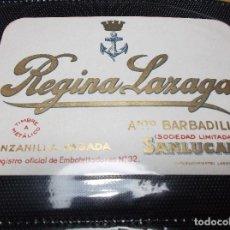 Etiquetas antiguas: ETIQUETA DE UNA BODEGA DE SANLUCAR BDA. . Lote 107542827