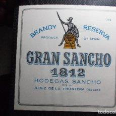 Etiquetas antiguas: ETIQUETA DE UNA BODEGA DE JEREZ DE LA FRONTERA. ANTIGUA.. Lote 107703147