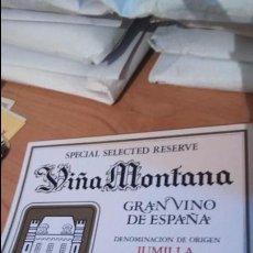 Etiquetas antiguas: ETIQUETA VINO VIÑA MONTANA. JUMILLA . Lote 107906863