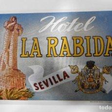 Etiquetas antiguas: ETIQUETA HOTEL LA RABIDA - SEVILLA. Lote 109031875
